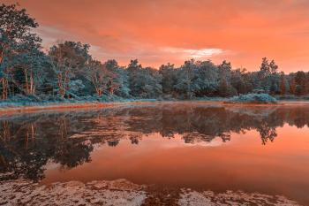 Opalescent Twilight Marsh - HDR