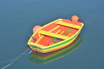 Orange and Yellow Rowing Boat