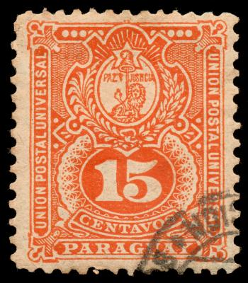 Orange Coat of Arms Stamp