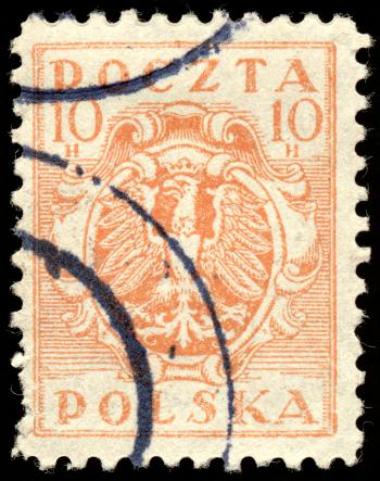 Orange Eagle Crest Stamp