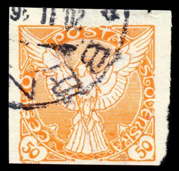 Orange Falcon Stamp