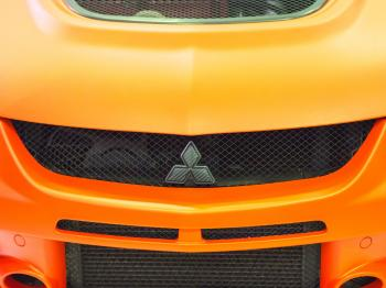 Orange Mitsubishi