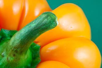 Orange Pepper Close-up