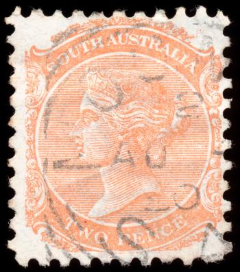 Orange Queen Victoria Stamp
