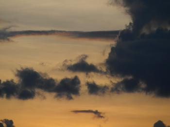 Orange Sky Background