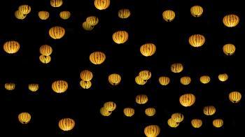 Orange Sky Lanterns