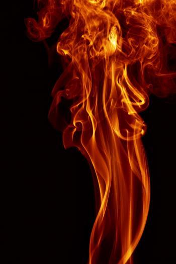 Orange smoke on black