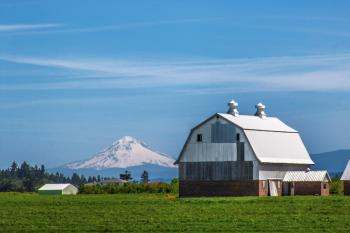 Oregon Barns with Mt. Hood in the background
