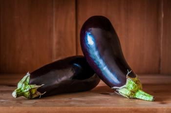 Organic eggplant aubergine