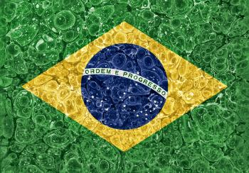 Organic Grunge Flag - Brazil