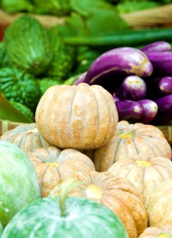 Organic vegetables in the market