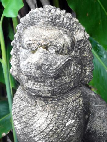Oriental Stone Lion Statue