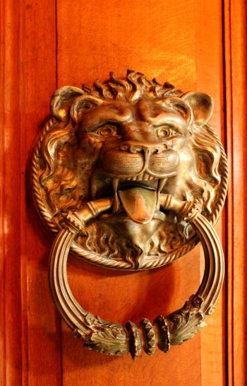 Ornate ancient door knocker