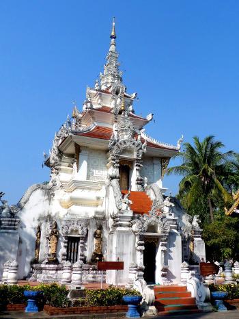 Ornate Buddhist pavilion