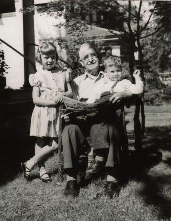 Otto Stauffer with Winnie and Eddie