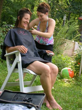 Outdoor Haircut