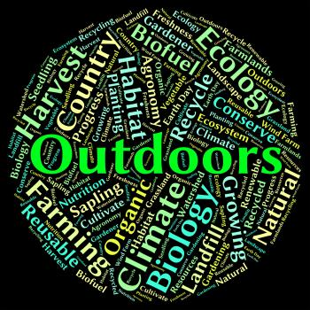 Outdoors Word Indicates Text Natural And Scene