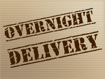 Overnight Delivery Indicates Next Day And Courier