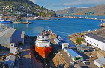 Pacific Runner. Dry Dock.Port of Lyttleton.