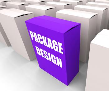 Package Design Box Infers Designing Packages or Containers