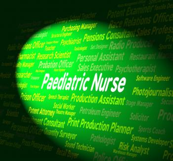 Paediatric Nurse Shows Kid Nurses And Hire