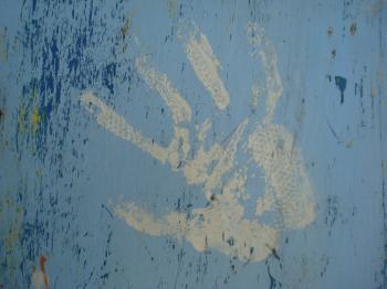 Paint hand print