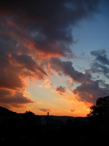 Paint-like clouds