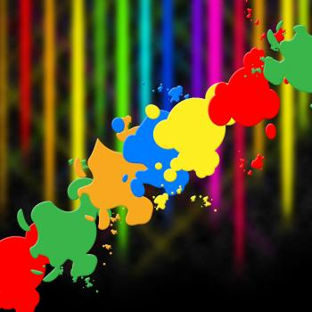 Paint Splash Means Splat Splashed And Design