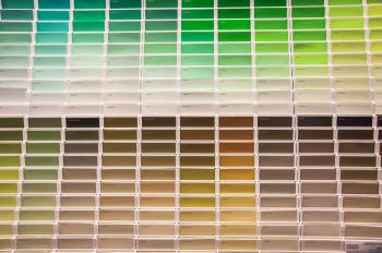 Paint swatches smaples in shop