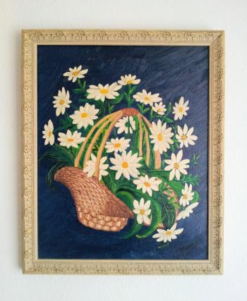 Painting of Basket with flowers