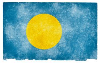 Palau Grunge Flag