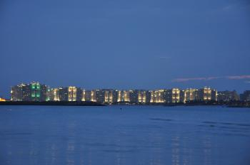 Palm Jumeirah at night