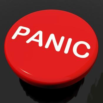 Panic Button Shows Anxiety Panicking Distress