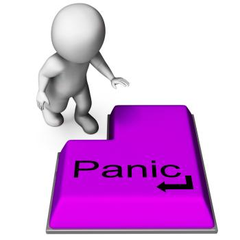 Panic Key Means Alarm Distress And Dread