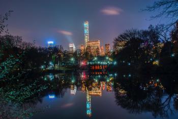 Panoramic Photo of City Skyline