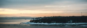Panoramic Photo Of Island During Golden Hour