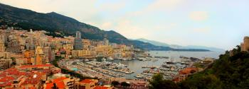 Panoramic view of Monte Carlo in Monaco