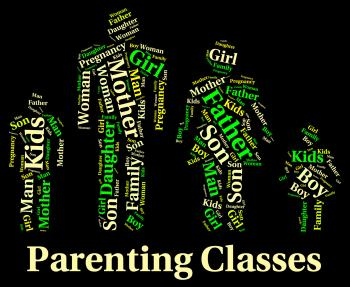 Parenting Classes Means Mother And Baby And Child