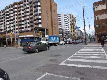 Parts of panoramas of intersections where there will be Eglinton Crosstown LRT stations, GPS embedded, taken 2013 04 25 (4).JPG