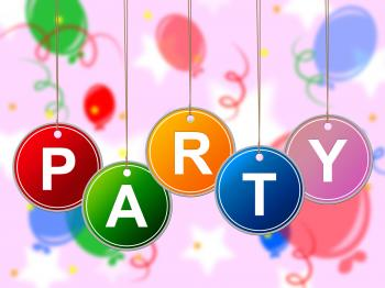 Party Kids Shows Youths Parties And Child