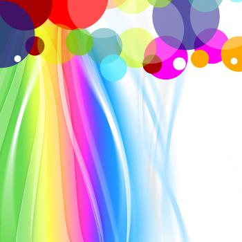 Pastel Color Indicates Spheres Ball And Backdrop