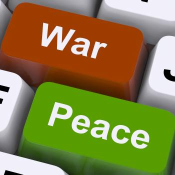 Peace War Keys Shows No Conflict Or Aggression