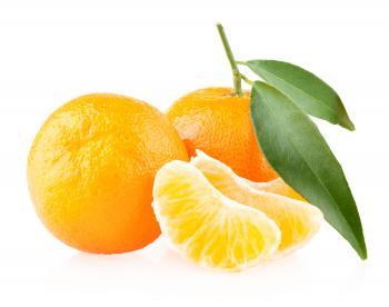 Peeled Juicy Oranges