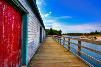 PEI Beach Boardwalk - HDR