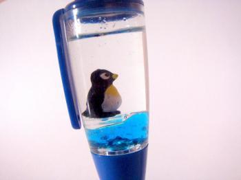 Penguin Blue Ball Pen