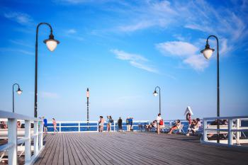 People on the pier