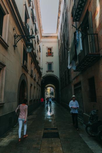 People Walking on Hall Way