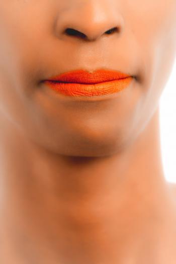 Person Orange Lips