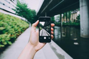 Person Using Camera of Space Grey Iphone 6