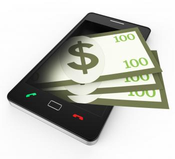 Phone With Copyspace Means World Wide Web And Banking